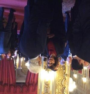 Laura Boldrini, presidente della Camera dei deputati, nella sala del buffet al termine della cerimonia Airc al Quirinale