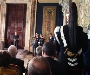 Pier Paolo Pandolfi in conferenza al Quirinale