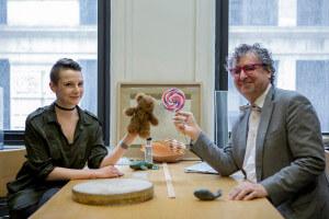 NYU doctoral candidate Aenne Brielmann, left, and NYU Professor Denis Pelli