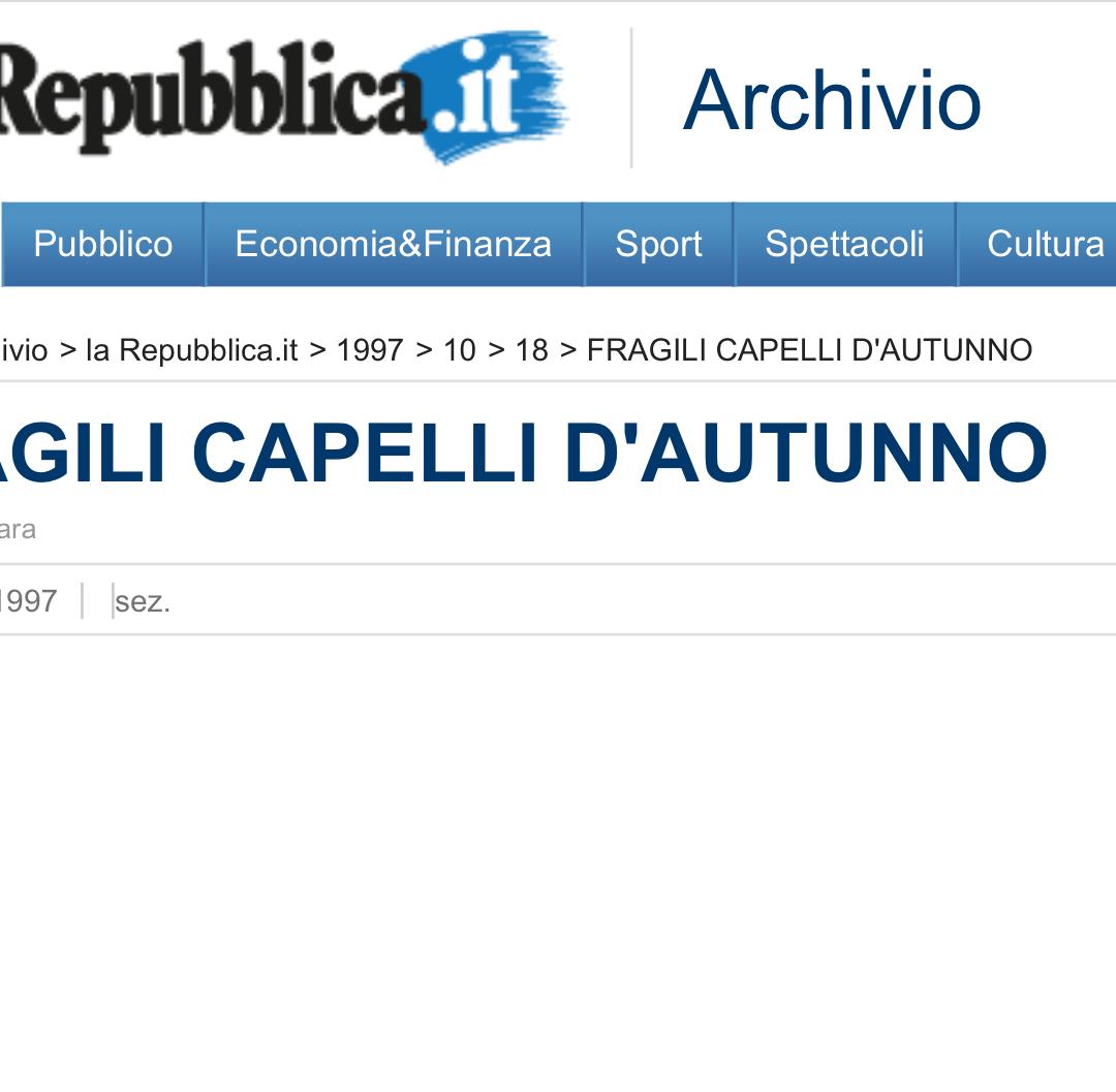 Repubblica Salute festeggia il numero 1.000. Primo numero il 5 maggio 1995. Dal 1997 la cosmesi diventa scientifica